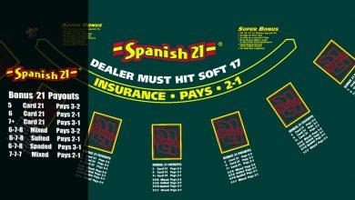 Spanish 21 Blackjack κανονες